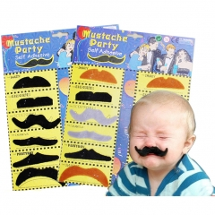 Fake Mustaches Party Costume Self-adhesive Pretend Play and Disguise Fun Toy multicolor one size
