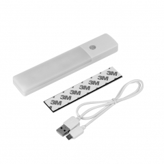 Motion Sensor lights USB Rechargeable 6 Bright LED Night Light Sensitive Distance 3 Meters yellow - -