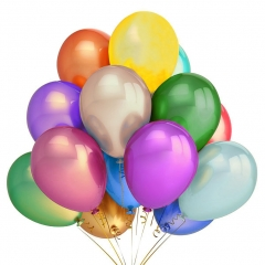 Party Balloon Sets Kids 12 Inches Birthday Graduation Decoration 100pcs Assorted Colors Assorted color one size