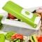 12Pcs Vegetable Fruit Peeler Cutter Multi Chopper Slicer Fruit Kitchen Tools Set Green