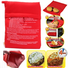 Microwave Oven Baked Potatoes Bag Useful Kitchen Supplies red normal