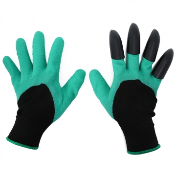 1 Pair Unisex Latex Garden Work Gloves Claws Design for Digging Planting
