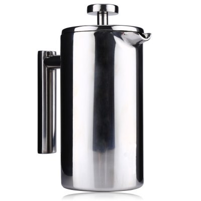 View Original Picture Stainless Steel Cafetiere French Press with Filter Double Wall silver 800ML