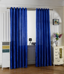 100 x 250CM Pure Color Grommet Ring Top Blackout Window Curtain for Bedroom Living Room BLUE 100*250cm