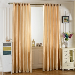 100 x 250CM Pure Color Grommet Ring Top Blackout Window Curtain for Bedroom Living Room BEIGE 100*250cm