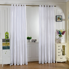 100 x 250CM Pure Color Grommet Ring Top Blackout Window Curtain for Bedroom Living Room WHITE 100*250cm