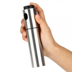 Silver Stainless Steel Olive Oil Spraying Bottle Vinegar Sprayer 135ml normal 135ml