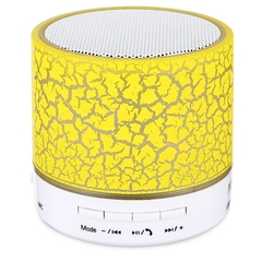 A9 Mini Bluetooth Speaker Flash LED Night Light TF Card AUX Input Yellow Normal