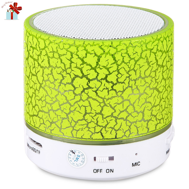A9 Mini Bluetooth Speaker Flash LED Night Light TF Card AUX Input Green Normal
