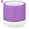 A9 Mini Bluetooth Speaker Flash LED Night Light TF Card FM AUX Input Purple Normal