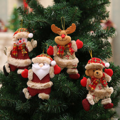 Cute Christmas Ornaments Gift Santa Claus tree Toy Doll Hang Christmas Tree Decorations Kids Gift A As picture