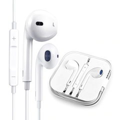 Volume Control Earphones Wire Earphone  Music Earbuds Stereo Game headphones with Microphone White 3.5mm