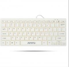 MINI1 Wired Keypad Multimedia Flat Fruit Chocolate Keyboard Mini USB External White
