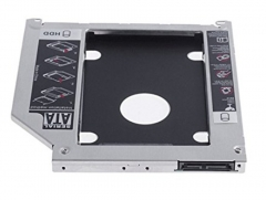 9.5mm Notebook CD-ROM Drive Hard Drive Tray Sata Hard Drive Bracket Second HDD Caddy black 19*3*16