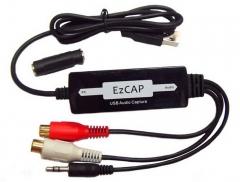 USB Audio Capture Left and Right Channel Acquisition Conversion MP3 USB Audio Capture black 91*38*15 other
