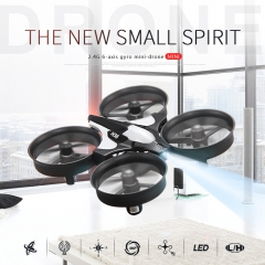 Mini Drone 4CH 6 Axis Headless Mode/Speed Switch/One Key Return RC Quadcopter RTF with LED Light gray H36