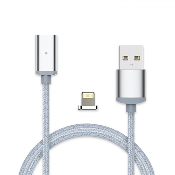 Metal Head Magnetic cable 8 Pin & Micro USB to USB Data Sync Charging Cable for iPhone / android silver iphone