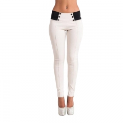 Fashion Women Casual Stretch Skinny Leggings Pencil Pants Slim Trousers New white m