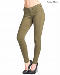 Women's Active Color Leggings S to 3XL Size Super Spandex Stretchy Skinny Pants army olive s