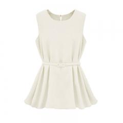 Fashion Women Summer Vest Top Sleeveless Blouse Casual Tank Tops T-Shirt Blouse white s