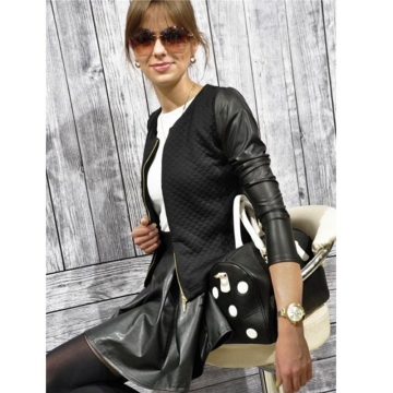 2017 New  Fashion New Slim Ladies Women Polyester Suit Coat Jacket Zipper Blazer black m