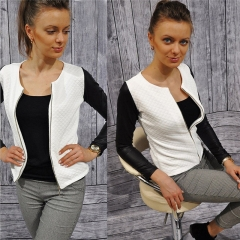 2017 New  Fashion New Slim Ladies Women Polyester Suit Coat Jacket Zipper Blazer white s