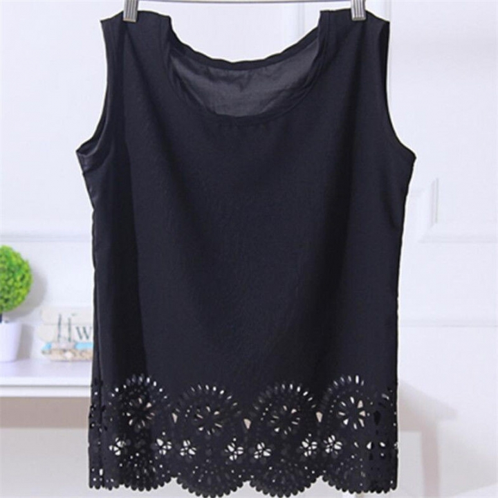 6e7e31b2411 Top Selling Casual Women Vest Summer Loose Chiffon Sleeveless Tank T-Shirt  Top Blouse black
