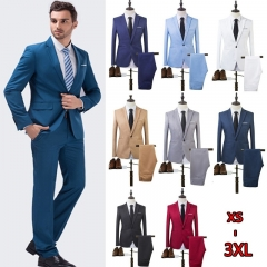High Quality Spring 2017 Business and Leisure Suit A Two-piece Suit The Groom's Best Man Wedding sky blue m