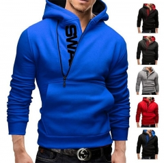 New men hoodies fleece warm pullovers sweatshirts mens hoodies jacket hip hop sportwear black blue l