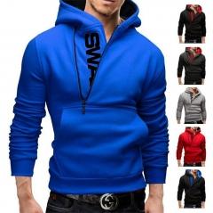 New men hoodies fleece warm pullovers sweatshirts mens hoodies jacket hip hop sportwear black blue l
