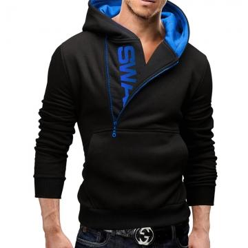 New men hoodies fleece warm pullovers sweatshirts mens hoodies jacket hip hop sportwear black blue 4xl