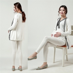 New Adjustable Pregnant Women Abdominal Maternity Pants Belly Leggings Trousers white one size