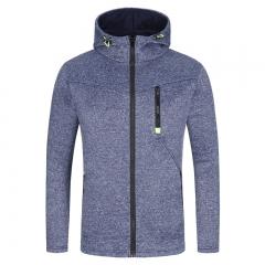 New Brand Men Zipper Sweatshirt Male Hoody Hip Hop Autumn Winter Hoodie Mens Casual Pullover navy m