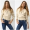 2017 women autumn deep V sexy Strapless sweaters chest bandage flat knitted loose pullovers milk white one size