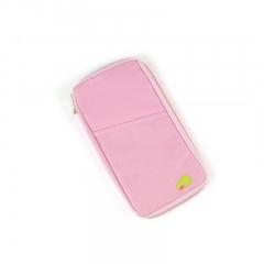 New Passport Holder Organizer Wallet multifunctional travel wallet portable business card holder pink 13 x 25 x 2 cm