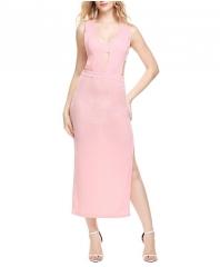 Sexy Bodycon Party Dress  V Neck Side Split Slim Summer  2017 Fashion Elegant Club Long Dress blue s