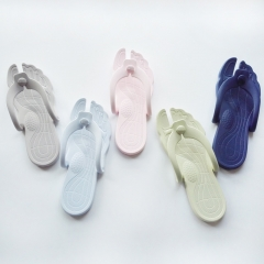 Women's &men's Portable Slippers Summer Flip Flops Shoes Sandals Fashion Beach Slipper navy blue xl