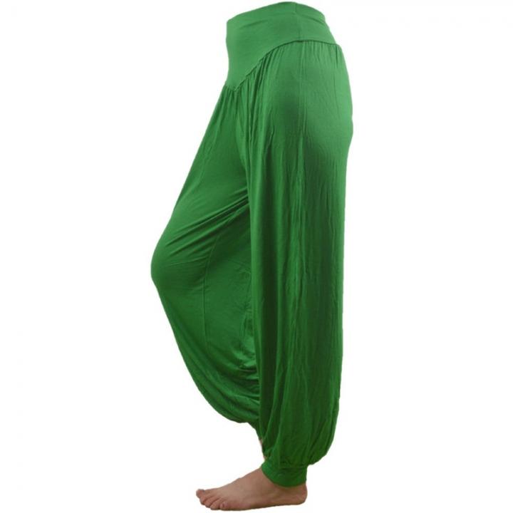 24546aa37df0b Harem pants women s comfy yoga loose long pants belly dance boho sport wide  trousers green xxxl