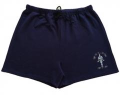 Mens cotton shorts Calf-Length gyms Fitness Joggers workout  sporting short pants Sweatpants navy blue m