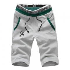 Summer mens Shorts Leisure Men Knee Length cotton Joggers  Sweatpants Shorts grey m