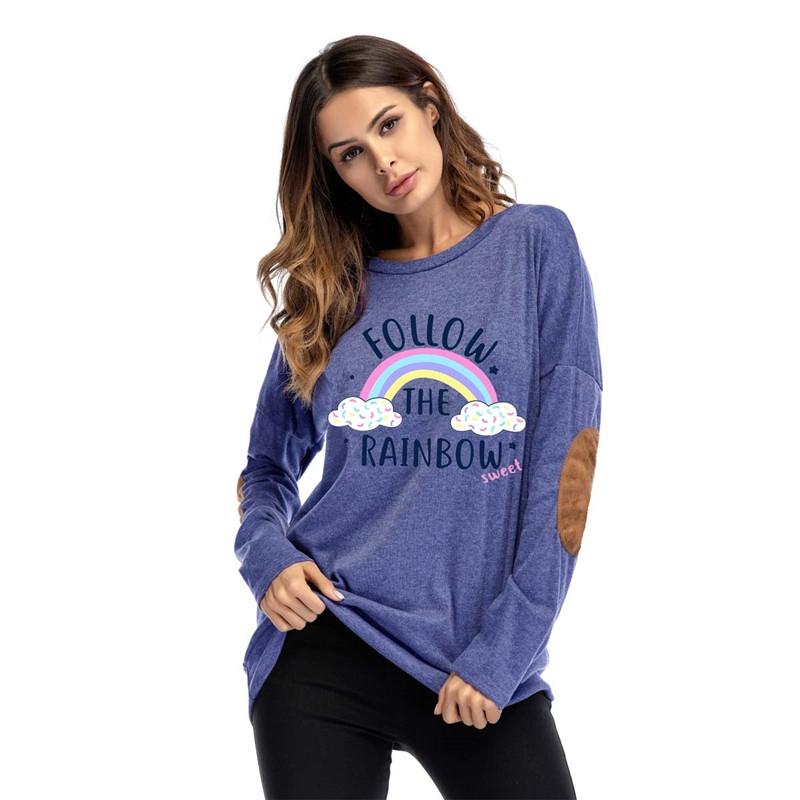 62cbe64f9a8d48 Item specifics  Brand  Long Sleeve T-shirt Women Print Casual Tee Shirt Slim  ...
