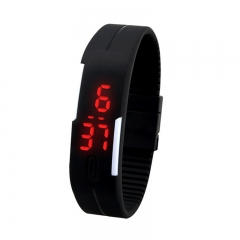 Smart watch women sport watch Mens Womens Rubber LED Watch Date Sports Bracelet Digital Watches black one size