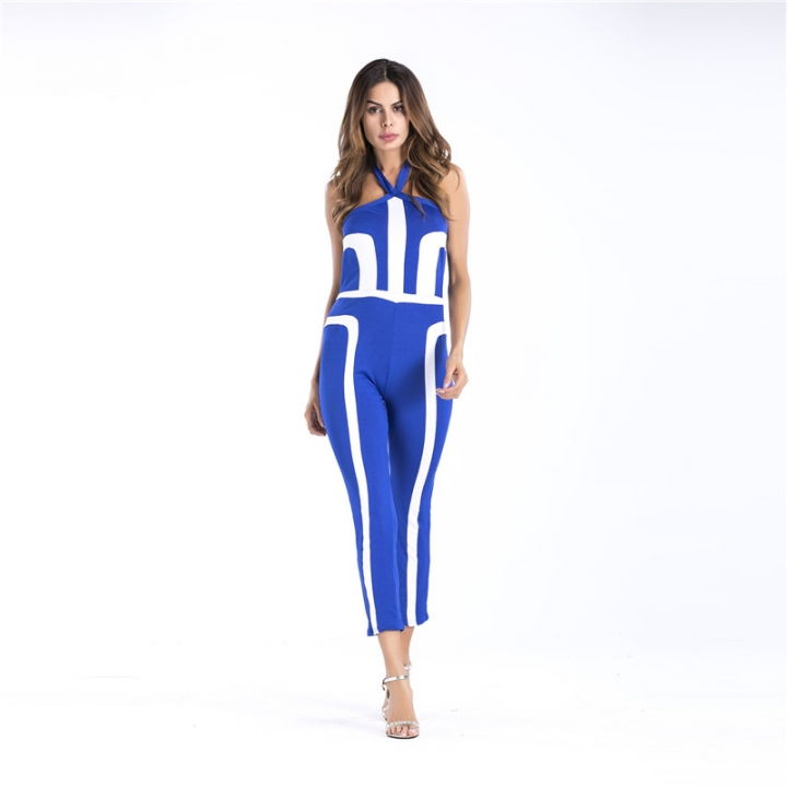 7739c465c83b Striped Sexy Spaghetti Strap Rompers Womens Jumpsuit Sleeveless Backless  Jumpsuits Leotard Overalls blue s. Fashion ...