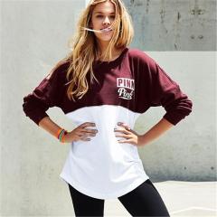 Fashion sweatshirts love pink peach heart pattern neon color block hoodie slim sweatshirt tracksuits red s
