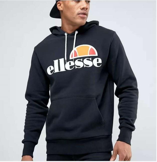 a997035b Men Hip Hop Hoodies Ellesse Letter Printed Pullover Winter Autumn Long  Sleeve Fashion Sweatshirts black l