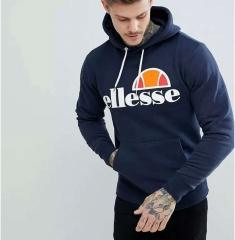 Men Hip Hop Hoodies Ellesse Letter Printed Pullover Winter Autumn Long Sleeve Fashion Sweatshirts navy blue s