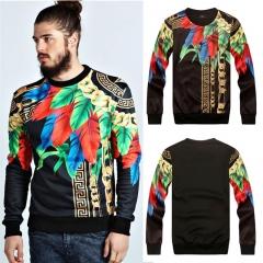 3D Mall Spring Sweatshirts Paris Top Design Medusa Men's Slim Pattern Sweatshirt Hoodies black m