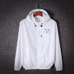 Spring Designer Ripndip Jackets Men Windbreakers Hip Hop Outdoor Sport Bomber Jacket Streetwear white s