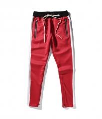 2018 New Men Pants Hip Hop Sportswear Fitness JoggersTrousers Mens Streetwear Track Pants Gyms red m