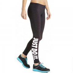 Women's Sexy Leggings Sport Skinny Stretchy Pants Tight Fitting Elastic Slim Fitness Pencil Trousers black white free